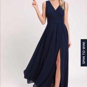 Lulus navy blue bridesmaid dress xs